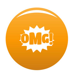 comic boom omg icon orange vector image