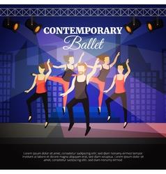 Contemporary Ballet vector