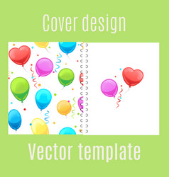 cover design with cartoon balloons pattern vector image