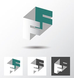 Double letter F icon vector image