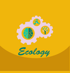 ecology problem concept in flat stile icons set vector image