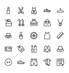 Fashion line icons 6 vector