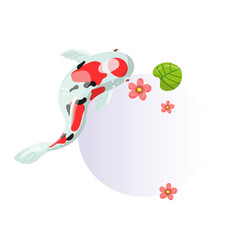 features of sanke carp koi traditional sacred vector image
