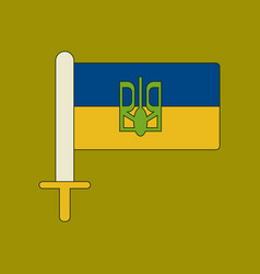 Flat icon on background ukrainian flag vector