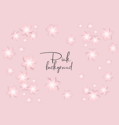 flower pink background vector image
