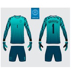goalkeeper jersey or soccer kit mockup vector image