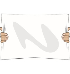 hands holding a paper list vector image