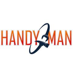 handyman symbol spanner and hammer vector image