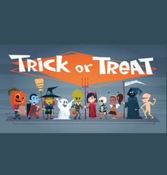 happy halloween banner holiday decoration horror vector image