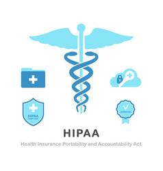 Health insurance portability and accountability vector