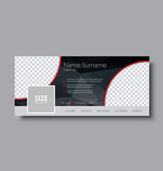 horizontal banner design for the social network vector image