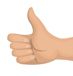 icon hand like thumb up gesture front design vector image