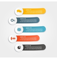 Infographic design with elements and icons vector