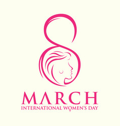 international womens day gretting card vector image