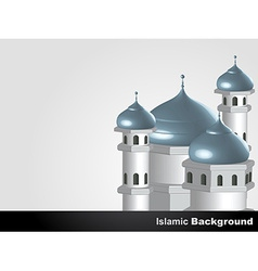 Islamic mosque background vector