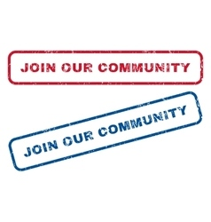 Join our community rubber stamps vector