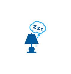 lamp sleep logo icon design vector image
