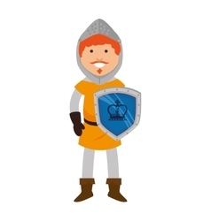 Man medieval warrior cartoon vector