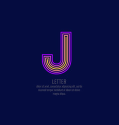 modern linear logo and sign the letter j vector image