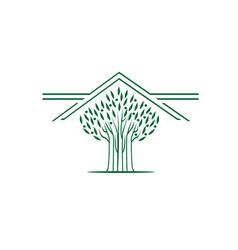 modern tree vector image