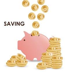 Money bank design vector image