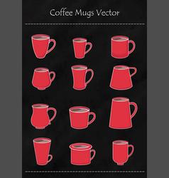 Mug and cup coffee vector