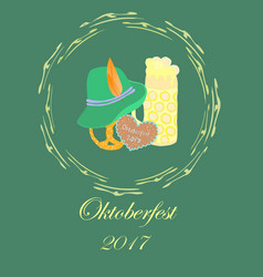 oktoberfest symbolic objects vector image