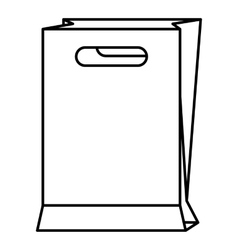 Paper bag icon outline style vector image