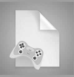 Paper symbol joystick vector