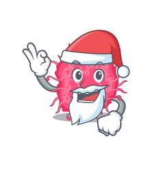 pathogenic bacteria santa cartoon character vector image