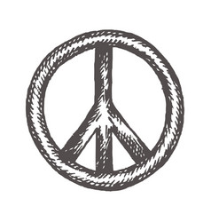 Peace symbol icon friendship pacifism hand vector