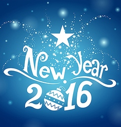 Postcard New Year 2016 vector image