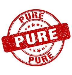 Pure red grunge round vintage rubber stamp vector