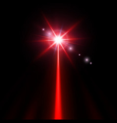 red laser beam vector image