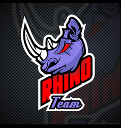 Rhino logo template high resolution image vector