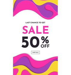 sale banner fashion colorful creative template vector image