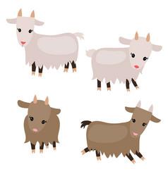 Set of cute goats set of cute goats vector