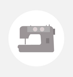 Sewing machine icon vector