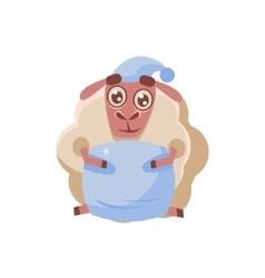 Sheep Preparing To Bed vector image