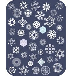 Snowflake White Set vector image