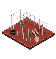 Sports ground isometric vector
