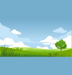 spring landscape banner vector image