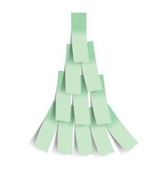 Sticker Christmas tree vector image