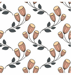 Stylized flowers on a white background vector
