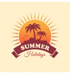 Summer Holidays Label vector image vector image