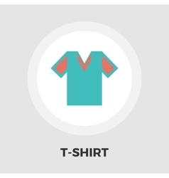 T-shirt icon flat vector