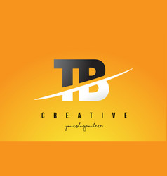 Tb t b letter modern logo design with yellow vector