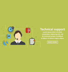 technical support banner horizontal concept vector image
