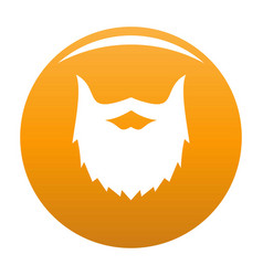 Villainous beard icon orange vector