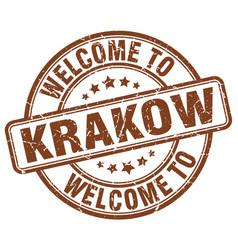 Welcome to krakow vector